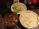 「つけそば(1.5)味薄め+野菜トッピング」@あまみ屋の写真