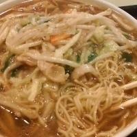 「サンマーメン+大盛+半チャーハン」@ラーメン厨房えんの写真