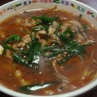 「搾菜麺(ザーサイ入りみそラーメン)800円+小ライス150円」@悠好!朋友の写真