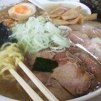 「塩チャーシューメン(中太麺・大盛)+チャーハン」@あんどれかんどれの写真