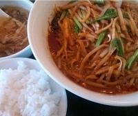 「麻辣麺 (汁なしタンタン麺)+半ライス(714円+150円)」@百香亭 守谷店の写真