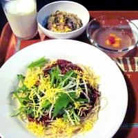 「冷やしジャージャン麺のセット (シェフのおすすめセット)」@Vulcania Restaurantの写真
