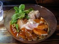 「29(肉)の日限定「冷製海老和えそばの鶏どっさり 鈴木スペシャル」@らーめん・つけめん いつ樹の写真