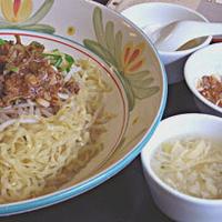 「汁無し山椒風坦々麺(太麺)を大盛り」@神洲之華の写真