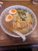 「味玉わんたんめん(太麺) 780円」@わんたんめんの店 しお福の写真