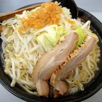 「ふじ麺・中盛り(背脂多め)700円→500円(メルマガ会員価格)」@麺屋 にし田の写真