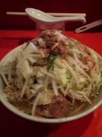 「小ラーメン(野菜ニンニク脂カラメ)」@ラーメン二郎 府中店の写真