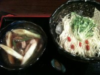 「和風つけ麺+裏ドンブリ(850円+300円)」@花いちもんめの写真