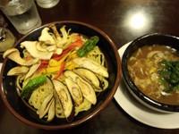 「夏やさいつけ麺(こってり)中盛950円」@ラーメン将太の写真