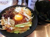 「美味だれビビン麺850円+のり(サービス券)」@junk F.B.I noodleの写真