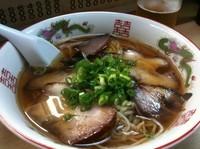 「チヤシュー麺 750円&ビール」@淡水軒の写真