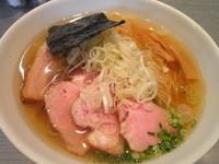 「煮干蕎麦(塩)730円+チャーシュー増し1枚100円」@喜乃壺の写真