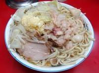 「小ラーメン豚入り(600円)ニンニクアブラ」@ラーメン二郎 目黒店の写真