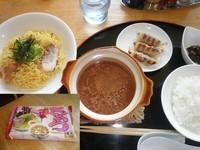 「さくらつけ麺+ランチセット=570円」@いんすたんとラーメン すみれの写真