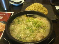 「特製豚しゃぶつけ麺(大盛り)」@江戸YAの写真