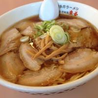 「醤油チャーシュー麺」@喜多方ラーメン 来夢 猪苗代店の写真