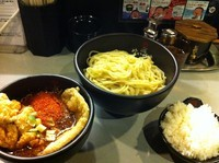 「極辛BLACKつけ麺ミックス(5辛)」@極辛BLACKつけ麺 七代目けいすけの写真