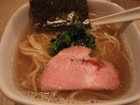 「塩にぼし(750円)チャーシューご飯(250円)」@菜の写真