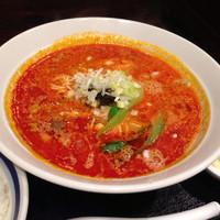 「担々麺+定食セット」@まん力食堂の写真