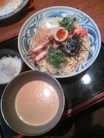 「地鶏つけ麺+シラス御飯800円」@春夏秋冬 季の庭の写真