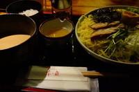 「地鶏つけ麺(岩のりごはん)+大盛」@春夏秋冬 季の庭の写真
