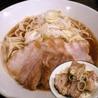 「肉中華そば 750円 + 肉飯(小)300円」@麺処 遊の写真