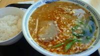 「みそタンタン麺600円+白飯50円(タイムサービス)」@ダイシンファミリーレストランの写真