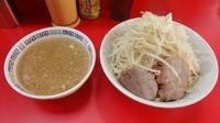「小ラーメン(700円)+つけ麺(150円)ヤサイニンニク」@ラーメン二郎 上野毛店の写真