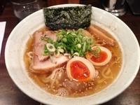 「煮玉子煮干ラーメン 極太麺ver. 750円」@ラーメン一心 本店の写真
