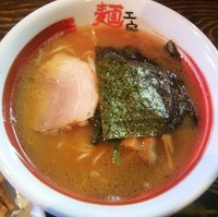 「濃厚魚介醤油ラーメン  650円 + メンマ(クーポン券)」@麺工房 じゃんの写真