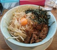 「汁無し野郎ラーメン¥680(極太麺)」@野郎ラーメン 秋葉原店の写真