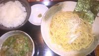 「油かすつけ麺・ライスセット(750円)」@実咲庵の写真