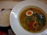 「塩カリー麺 (780円)ごはんミニ(+50円)一口餃子」@麺's ら・ぱしゃ 霧島空港口店の写真