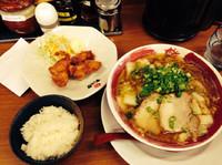 「鳥ジャン半唐定食」@ラーメンまこと屋 尼崎次屋店の写真
