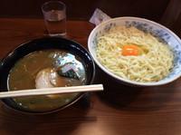 「あつもりランチメニューの生玉入り700円+大盛100円+スープ割」@大勝軒の写真