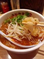 「担々刀削麺670円」@刀削麺荘 唐家 上野店の写真