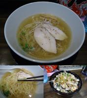 「『鶏塩らーめん+チャーシュー丼(¥680+200)』」@まるどり 熊谷本店の写真