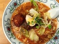 「担々麺+味付玉子」@中華屋台 潤の写真