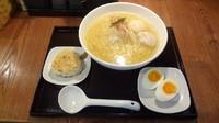 「あら炊き塩らぁめん:焼きおにぎり付き(980円)+味玉子」@麺屋 海神 吉祥寺店の写真