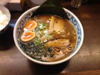 「和風ラーメン並+味玉」@つけ麺・らーめん 豆天狗 名古屋金山店の写真