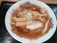 「白エビ醤油ラーメン ¥500」@道の駅 新湊 テイクアウトコーナーの写真