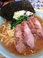 「チャーシュー麺 大盛」@横浜家系豚骨醤油極太麺 侍 本店の写真
