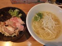 「朝ラー定食(煮豚三昧丼)(918円)」@らーめん芝浜の写真