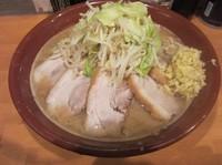 「大ラーメン豚入り(900円)+麺マシ+豚マシ」@豚星。の写真