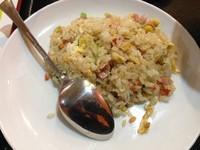 「担々刀削麺セット(+半炒飯+漬物+杏仁豆腐)」@本格中華 金盛楼の写真