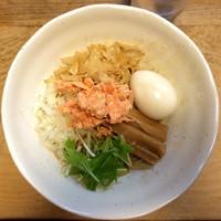 「【限定】鮭と鮭節の油そば750円」@いのうえの写真