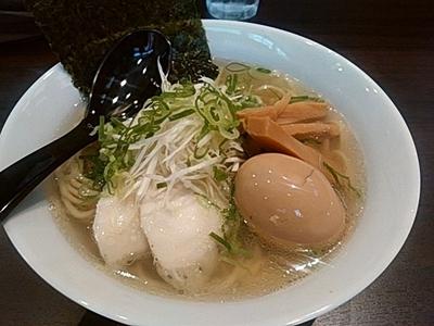 「鶏出汁そば(塩)750円」@麺屋 いちずの写真