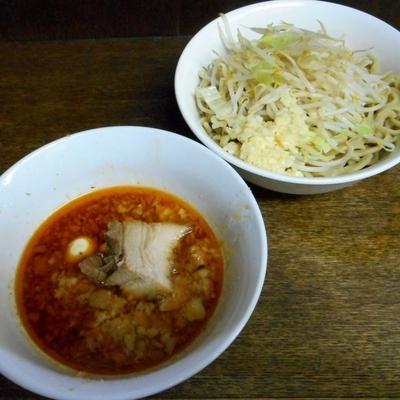 「つけ麺(850円)+ニンニク」@蓮爾 さんこま店の写真