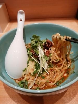 「汁無し担々麺(太麺)850円」@担々麺本舗 辣椒漢 駒込店の写真
