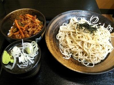 「かき揚げ丼セット」@ゆで太郎 木更津朝日店の写真